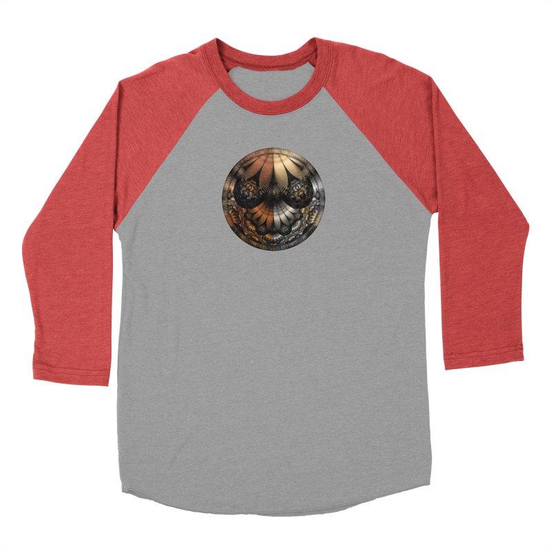 Autumn Fractal Pheasant Feathers in DaVinci Style Men's Longsleeve T-Shirt by The Fractal Art of San Jaya Prime