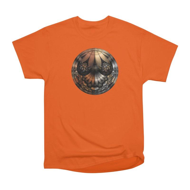 Autumn Fractal Pheasant Feathers in DaVinci Style Women's T-Shirt by The Fractal Art of San Jaya Prime