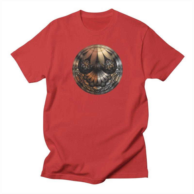 Autumn Fractal Pheasant Feathers in DaVinci Style Women's Regular Unisex T-Shirt by The Fractal Art of San Jaya Prime