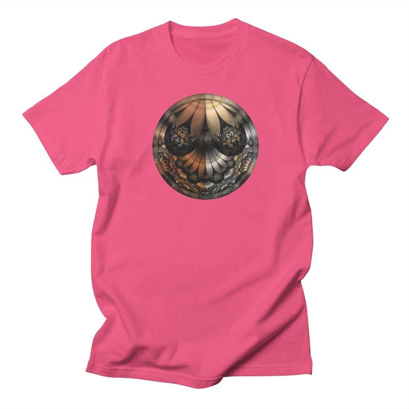 Autumn Fractal Pheasant Feathers in DaVinci Style Men's Regular T-Shirt by The Fractal Art of San Jaya Prime