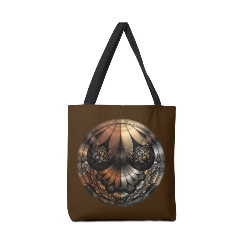 Autumn Fractal Pheasant Feathers in DaVinci Style Accessories Tote Bag Bag by The Fractal Art of San Jaya Prime
