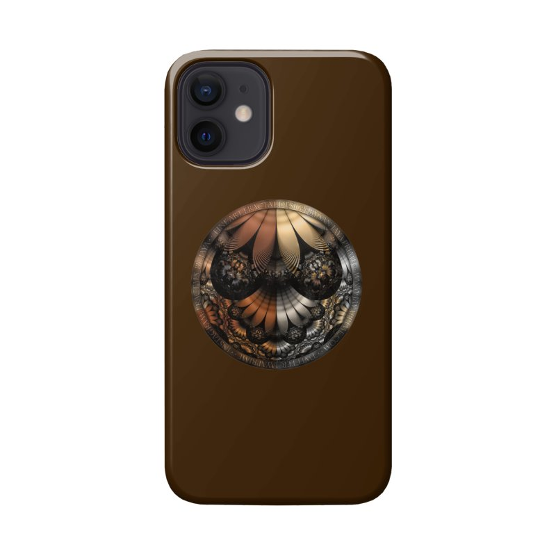 Autumn Fractal Pheasant Feathers in DaVinci Style Accessories Phone Case by The Fractal Art of San Jaya Prime