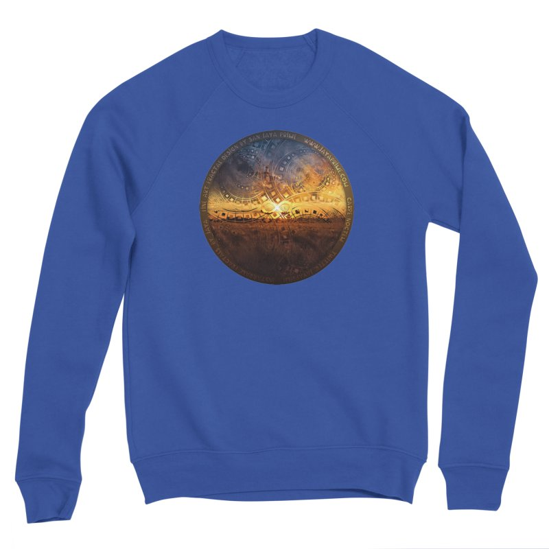 The Endless Sunset Over Our Golden Elysian Fields Men's Sweatshirt by The Fractal Art of San Jaya Prime