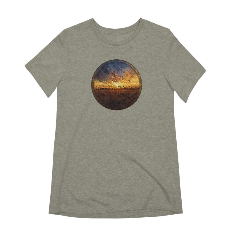 The Endless Sunset Over Our Golden Elysian Fields Women's Extra Soft T-Shirt by The Fractal Art of San Jaya Prime