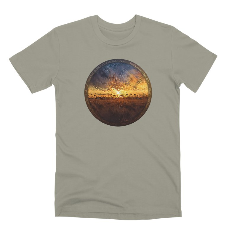 The Endless Sunset Over Our Golden Elysian Fields Men's Premium T-Shirt by The Fractal Art of San Jaya Prime