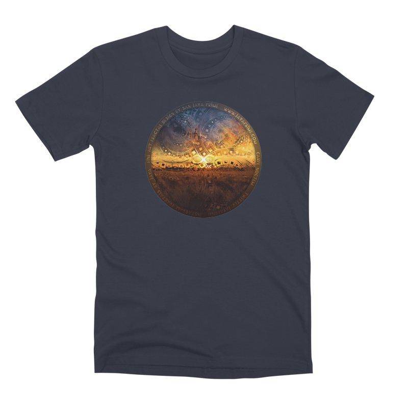 The Endless Sunset Over Our Golden Elysian Fields Men's Premium T-Shirt by The Fractal Art of San Jaya Prime
