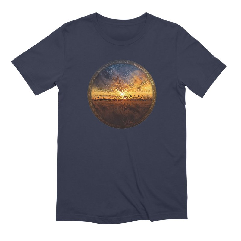 The Endless Sunset Over Our Golden Elysian Fields Men's Extra Soft T-Shirt by The Fractal Art of San Jaya Prime