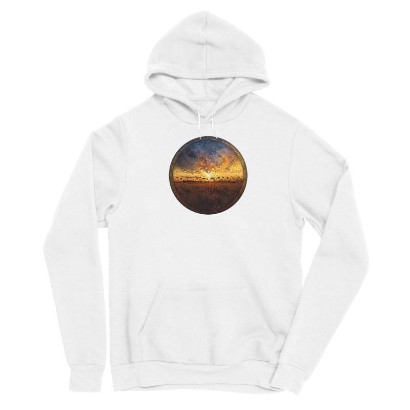 The Endless Sunset Over Our Golden Elysian Fields Women's Pullover Hoody by The Fractal Art of San Jaya Prime