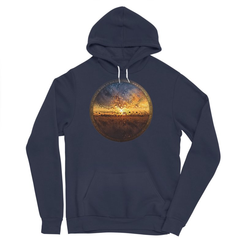 The Endless Sunset Over Our Golden Elysian Fields Women's Sponge Fleece Pullover Hoody by The Fractal Art of San Jaya Prime