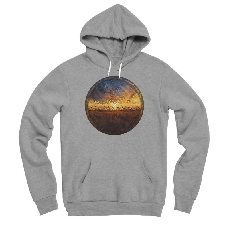 The Endless Sunset Over Our Golden Elysian Fields Men's Sponge Fleece Pullover Hoody by The Fractal Art of San Jaya Prime