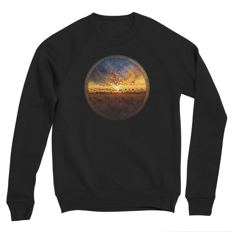 The Endless Sunset Over Our Golden Elysian Fields Women's Sponge Fleece Sweatshirt by The Fractal Art of San Jaya Prime