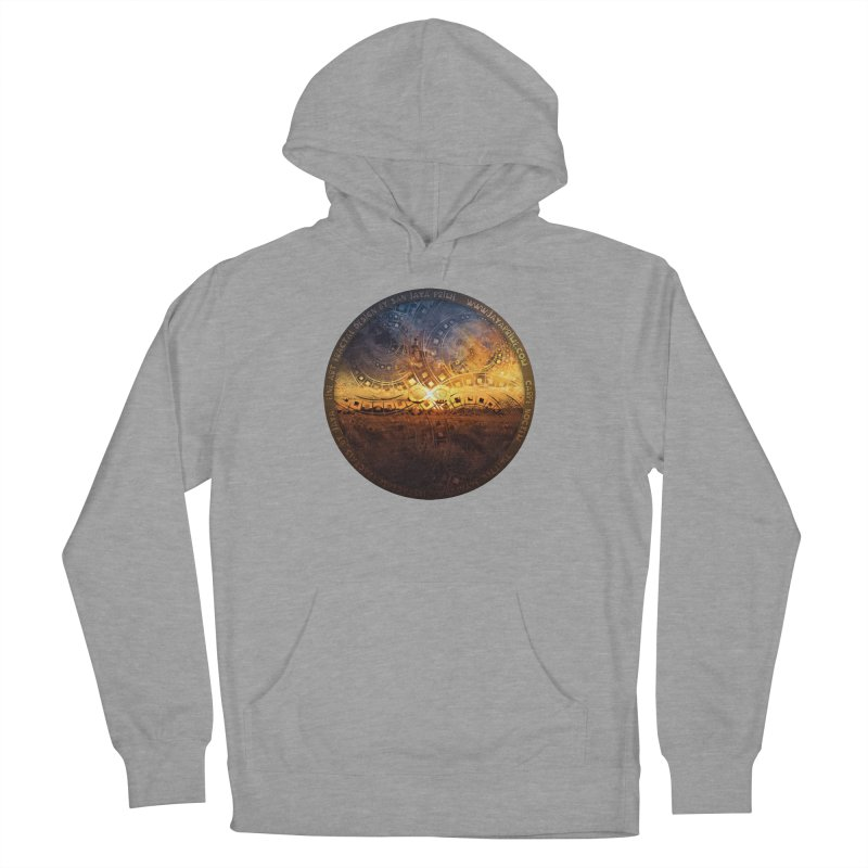 The Endless Sunset Over Our Golden Elysian Fields Women's French Terry Pullover Hoody by The Fractal Art of San Jaya Prime