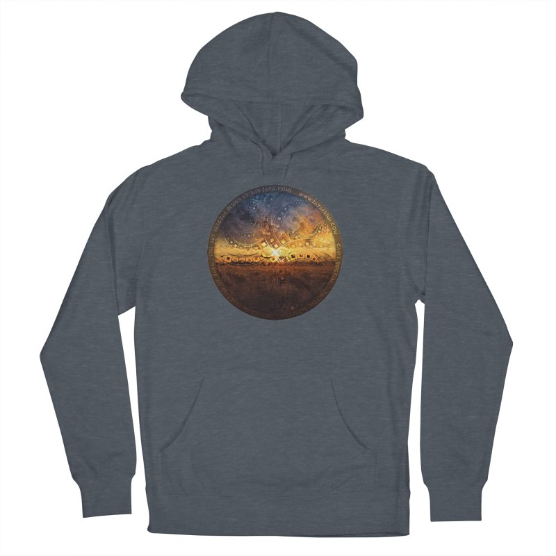 The Endless Sunset Over Our Golden Elysian Fields Men's French Terry Pullover Hoody by The Fractal Art of San Jaya Prime