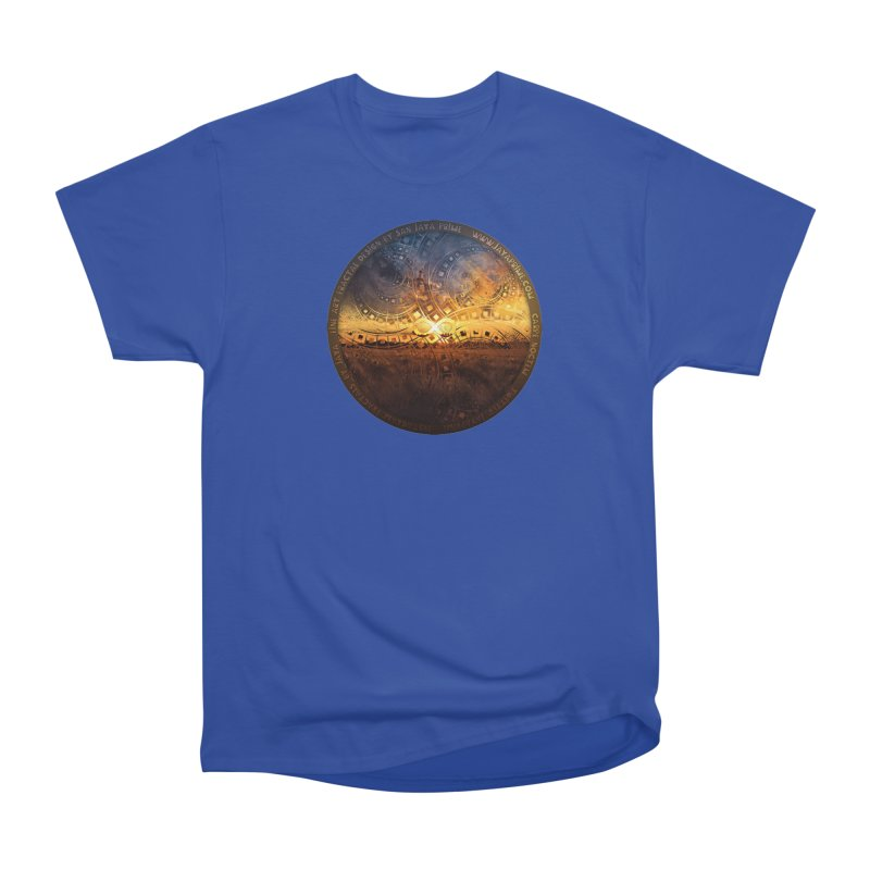 The Endless Sunset Over Our Golden Elysian Fields Women's T-Shirt by The Fractal Art of San Jaya Prime