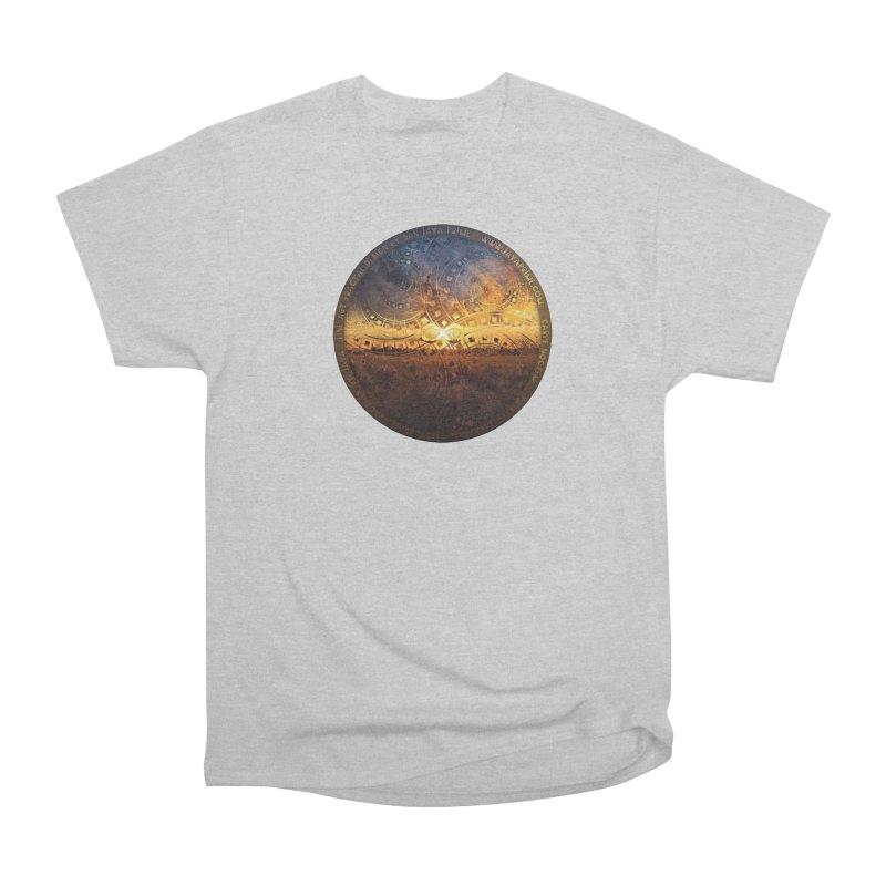 The Endless Sunset Over Our Golden Elysian Fields Men's T-Shirt by The Fractal Art of San Jaya Prime