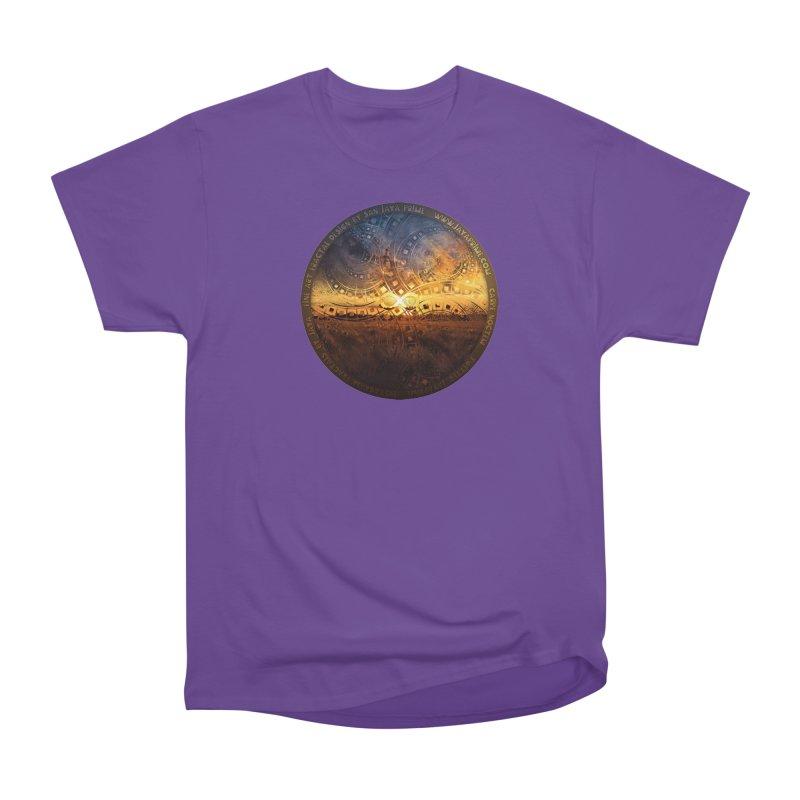 The Endless Sunset Over Our Golden Elysian Fields Men's Heavyweight T-Shirt by The Fractal Art of San Jaya Prime