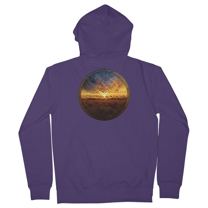 The Endless Sunset Over Our Golden Elysian Fields Women's Zip-Up Hoody by The Fractal Art of San Jaya Prime