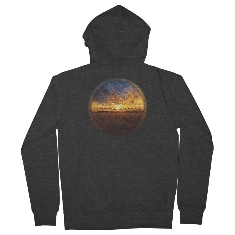 The Endless Sunset Over Our Golden Elysian Fields Men's French Terry Zip-Up Hoody by The Fractal Art of San Jaya Prime
