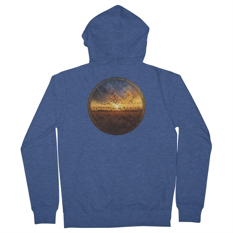The Endless Sunset Over Our Golden Elysian Fields Men's Zip-Up Hoody by The Fractal Art of San Jaya Prime