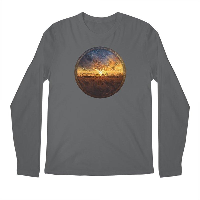 The Endless Sunset Over Our Golden Elysian Fields Men's Regular Longsleeve T-Shirt by The Fractal Art of San Jaya Prime