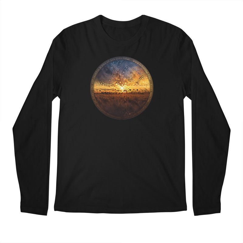 The Endless Sunset Over Our Golden Elysian Fields Men's Regular Longsleeve T-Shirt by The Fractal Art of San Jaya Prime