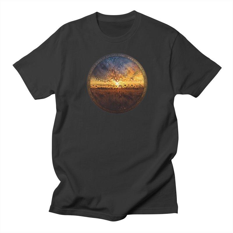 The Endless Sunset Over Our Golden Elysian Fields Women's Regular Unisex T-Shirt by The Fractal Art of San Jaya Prime