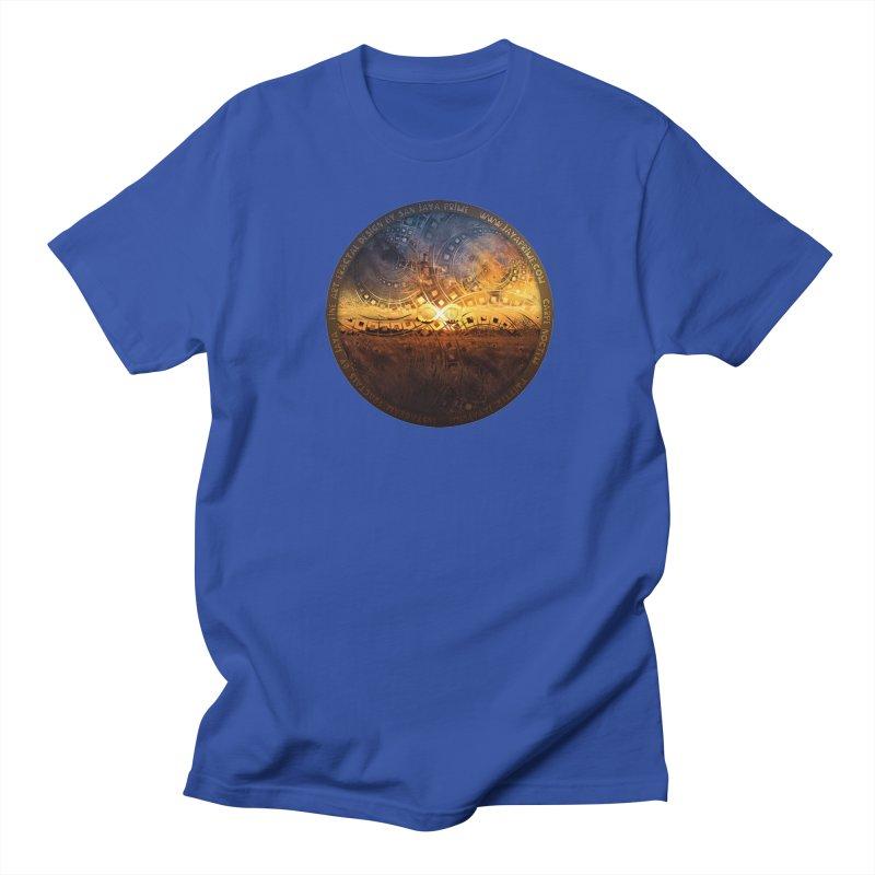 The Endless Sunset Over Our Golden Elysian Fields Men's Regular T-Shirt by The Fractal Art of San Jaya Prime