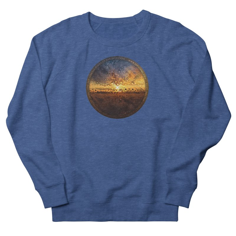 The Endless Sunset Over Our Golden Elysian Fields Women's Sweatshirt by The Fractal Art of San Jaya Prime