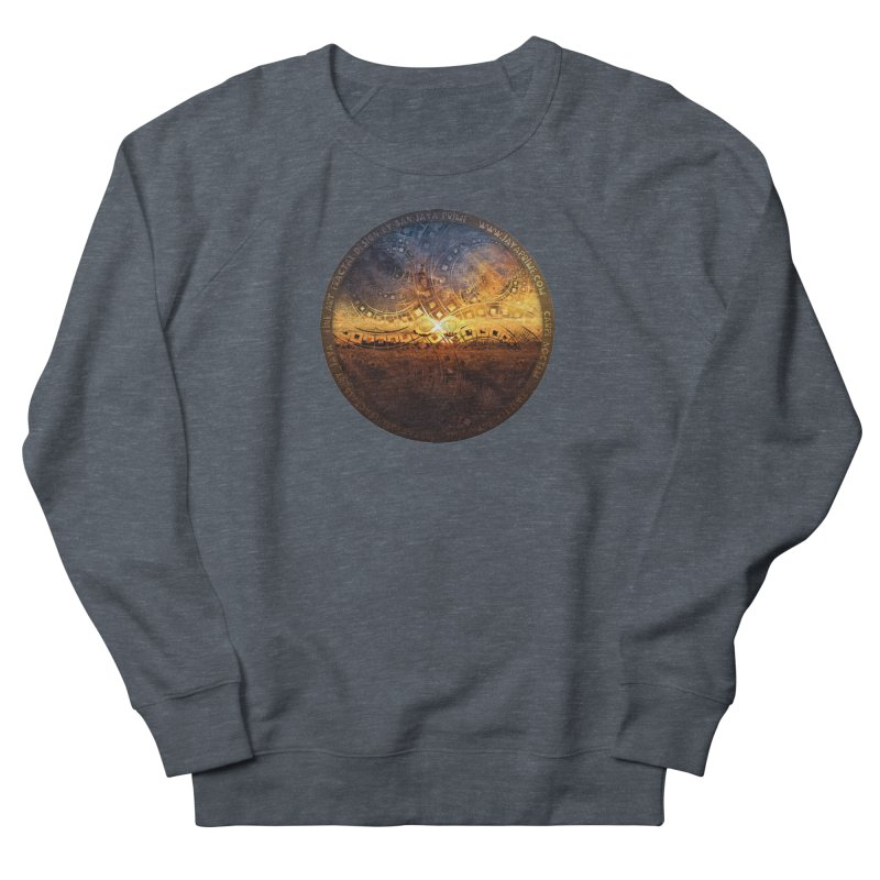 The Endless Sunset Over Our Golden Elysian Fields Women's French Terry Sweatshirt by The Fractal Art of San Jaya Prime
