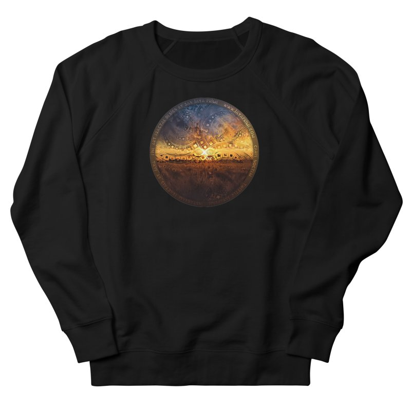 The Endless Sunset Over Our Golden Elysian Fields Men's French Terry Sweatshirt by The Fractal Art of San Jaya Prime