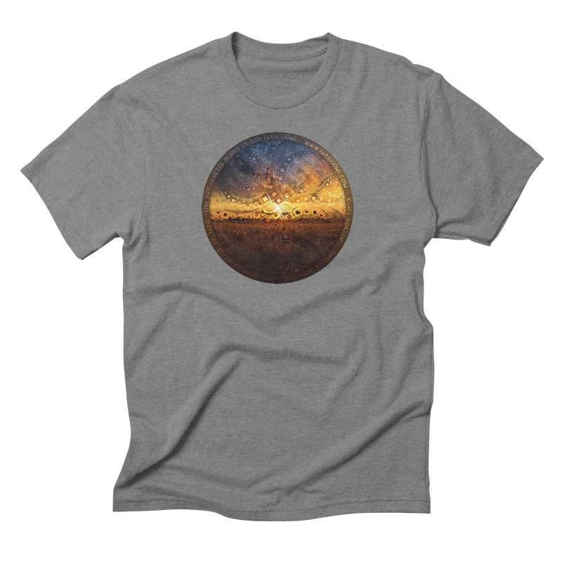 The Endless Sunset Over Our Golden Elysian Fields Men's Triblend T-Shirt by The Fractal Art of San Jaya Prime