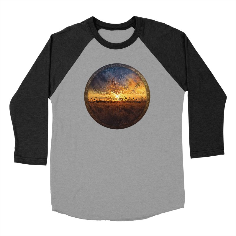 The Endless Sunset Over Our Golden Elysian Fields Women's Baseball Triblend Longsleeve T-Shirt by The Fractal Art of San Jaya Prime