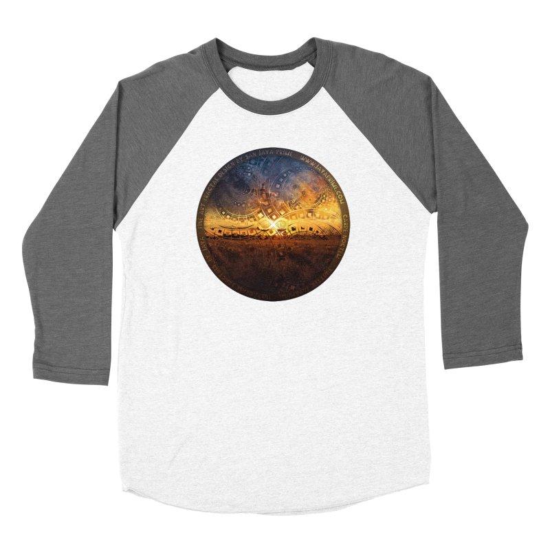 The Endless Sunset Over Our Golden Elysian Fields Men's Baseball Triblend Longsleeve T-Shirt by The Fractal Art of San Jaya Prime