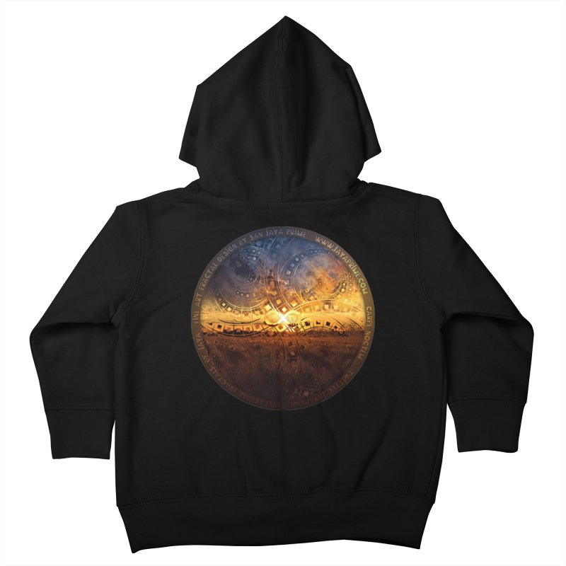 The Endless Sunset Over Our Golden Elysian Fields Kids Toddler Zip-Up Hoody by The Fractal Art of San Jaya Prime