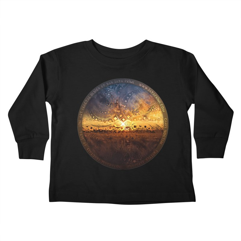 The Endless Sunset Over Our Golden Elysian Fields Kids Toddler Longsleeve T-Shirt by The Fractal Art of San Jaya Prime