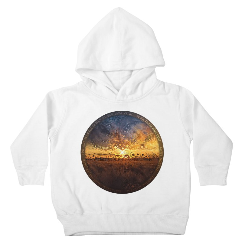The Endless Sunset Over Our Golden Elysian Fields Kids Toddler Pullover Hoody by The Fractal Art of San Jaya Prime