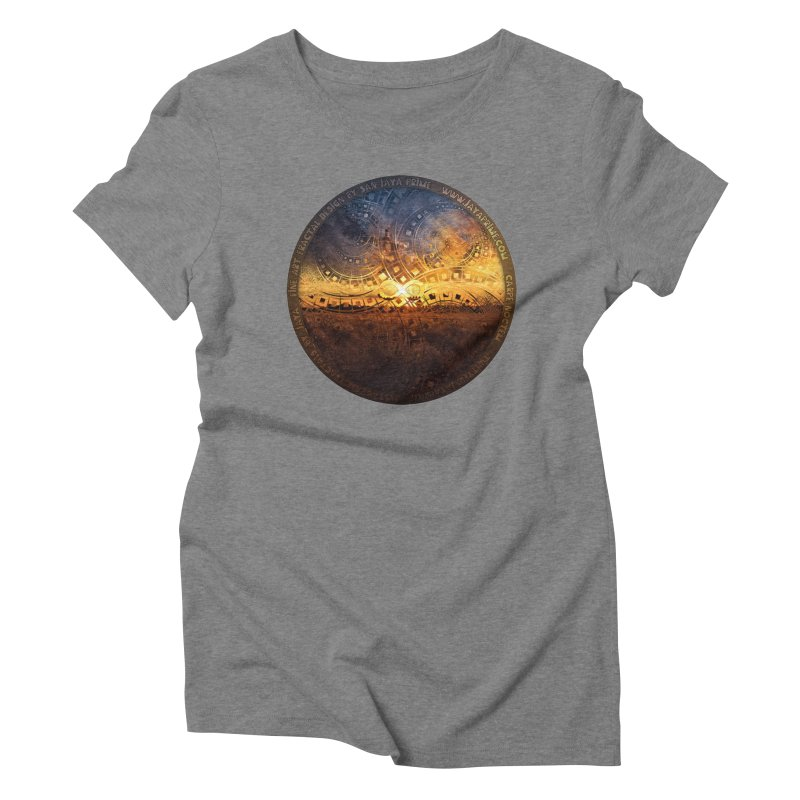 The Endless Sunset Over Our Golden Elysian Fields Women's Triblend T-Shirt by The Fractal Art of San Jaya Prime