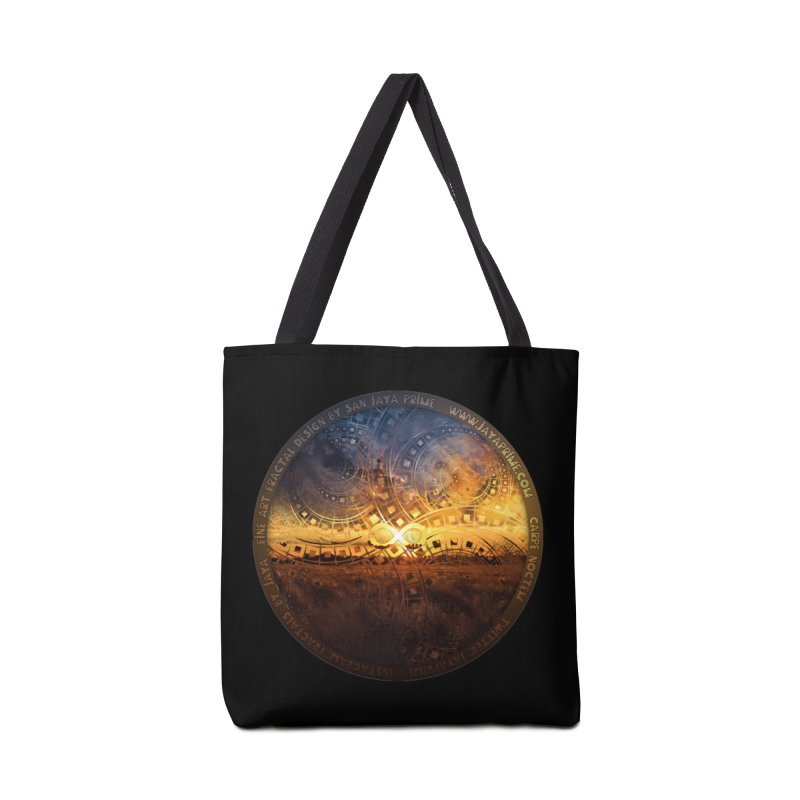 The Endless Sunset Over Our Golden Elysian Fields Accessories Tote Bag Bag by The Fractal Art of San Jaya Prime