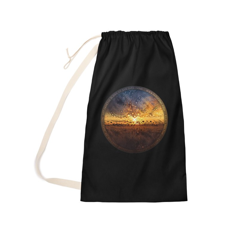 The Endless Sunset Over Our Golden Elysian Fields Accessories Laundry Bag Bag by The Fractal Art of San Jaya Prime
