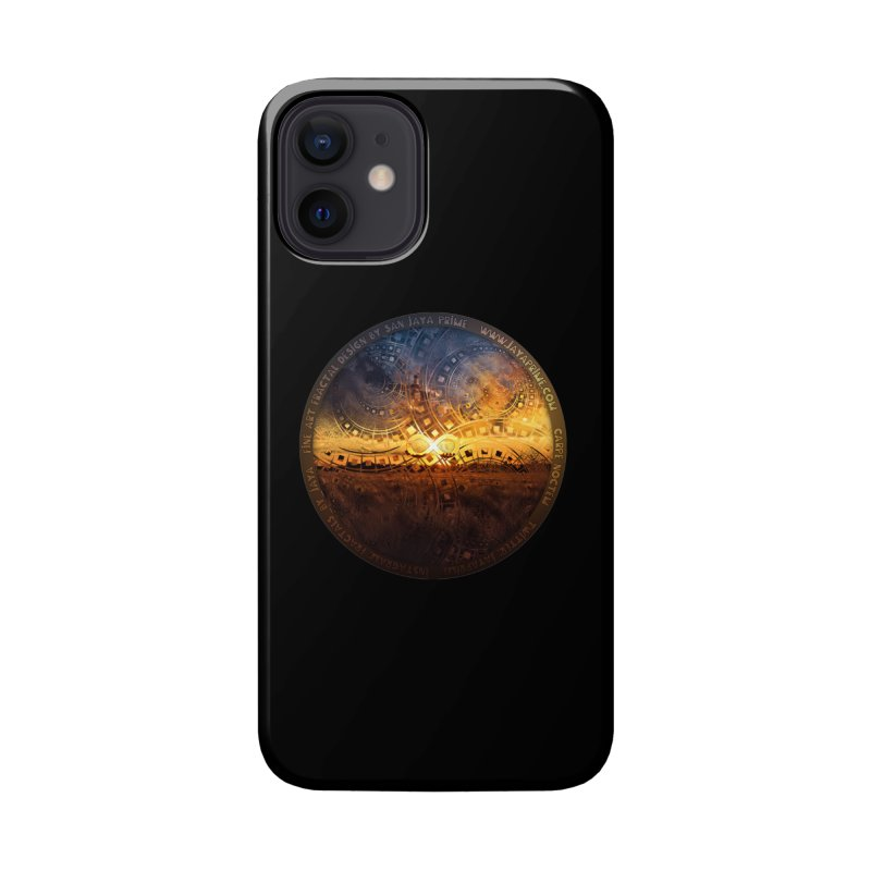 The Endless Sunset Over Our Golden Elysian Fields Accessories Phone Case by The Fractal Art of San Jaya Prime