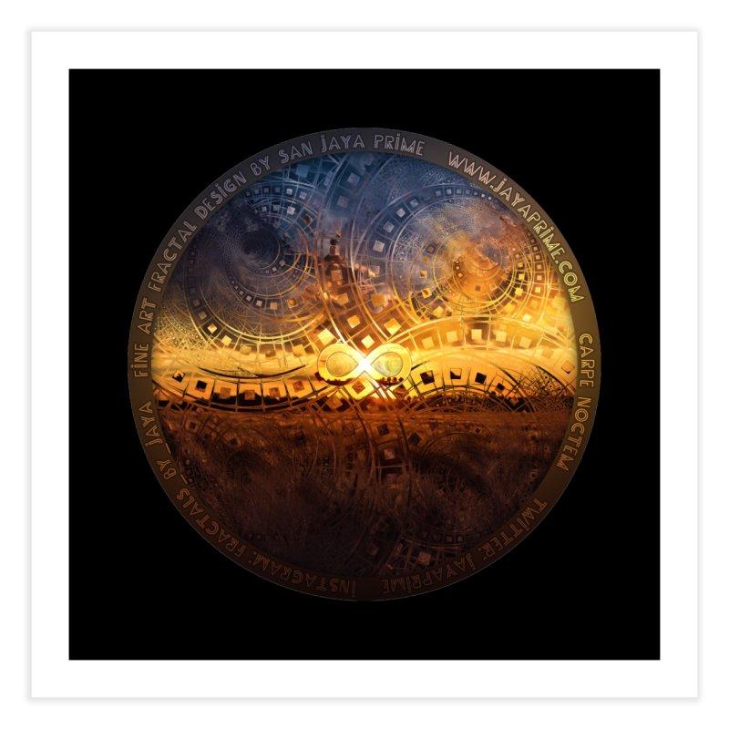 The Endless Sunset Over Our Golden Elysian Fields Home Fine Art Print by The Fractal Art of San Jaya Prime