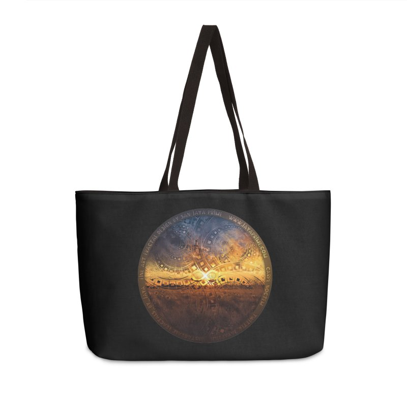 The Endless Sunset Over Our Golden Elysian Fields Accessories Weekender Bag Bag by The Fractal Art of San Jaya Prime