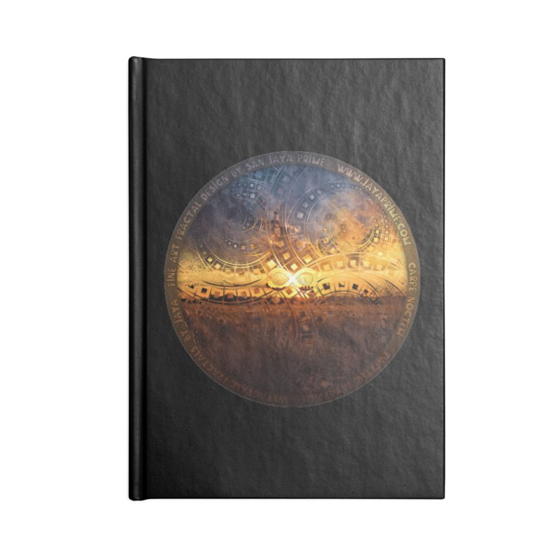 The Endless Sunset Over Our Golden Elysian Fields Accessories Blank Journal Notebook by The Fractal Art of San Jaya Prime