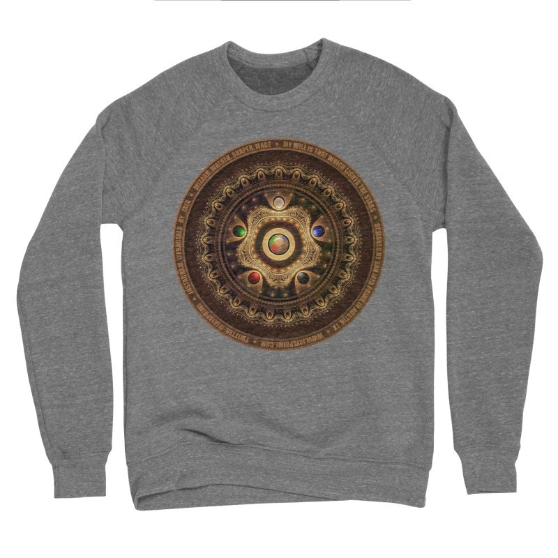 The Mox Fractal Jeweled Colors of Magic the Gathering Men's Sweatshirt by The Fractal Art of San Jaya Prime