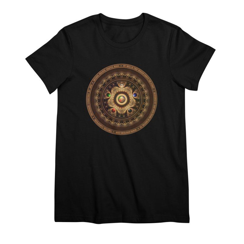 The Mox Fractal Jeweled Colors of Magic the Gathering Women's Premium T-Shirt by The Fractal Art of San Jaya Prime