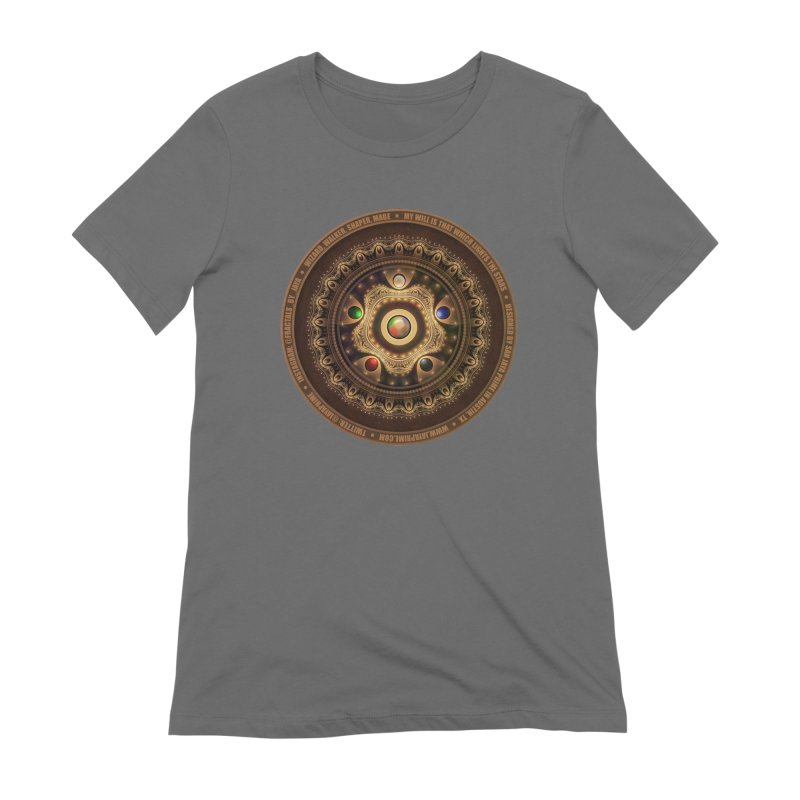 The Mox Fractal Jeweled Colors of Magic the Gathering Women's Extra Soft T-Shirt by The Fractal Art of San Jaya Prime