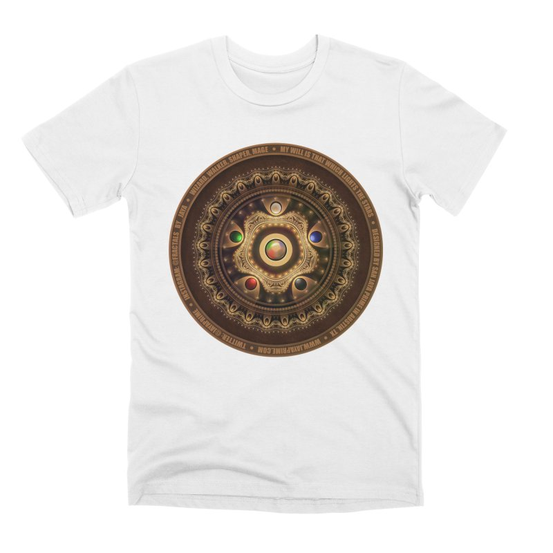 The Mox Fractal Jeweled Colors of Magic the Gathering Men's Premium T-Shirt by The Fractal Art of San Jaya Prime