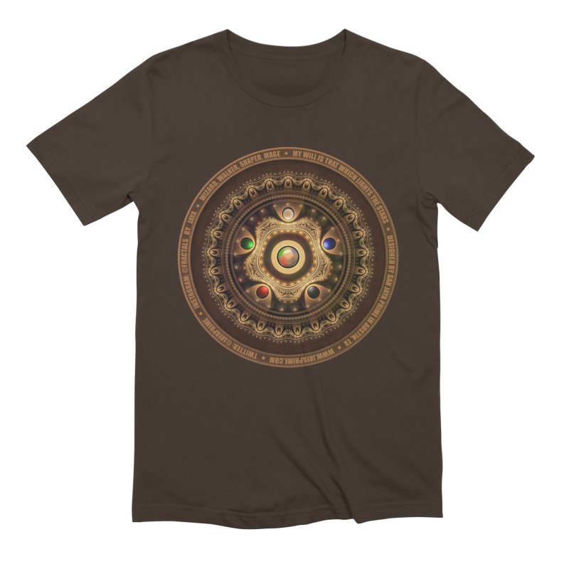The Mox Fractal Jeweled Colors of Magic the Gathering Men's Extra Soft T-Shirt by The Fractal Art of San Jaya Prime