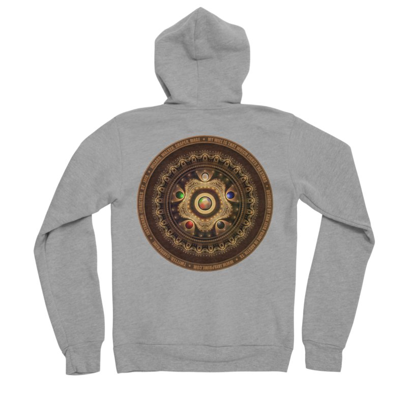 The Mox Fractal Jeweled Colors of Magic the Gathering Men's Sponge Fleece Zip-Up Hoody by The Fractal Art of San Jaya Prime