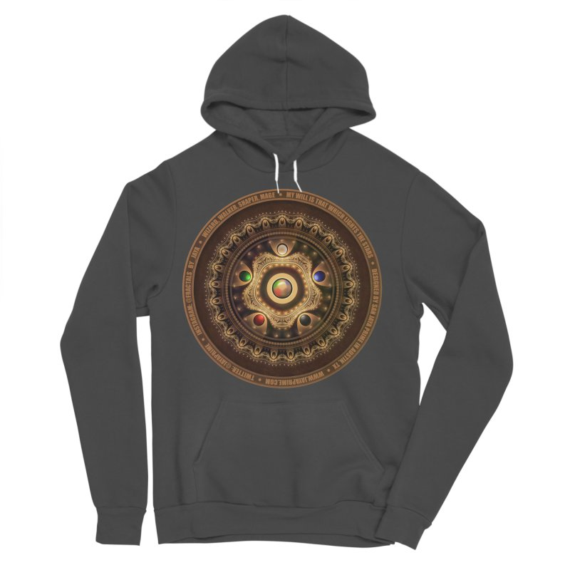 The Mox Fractal Jeweled Colors of Magic the Gathering Men's Sponge Fleece Pullover Hoody by The Fractal Art of San Jaya Prime